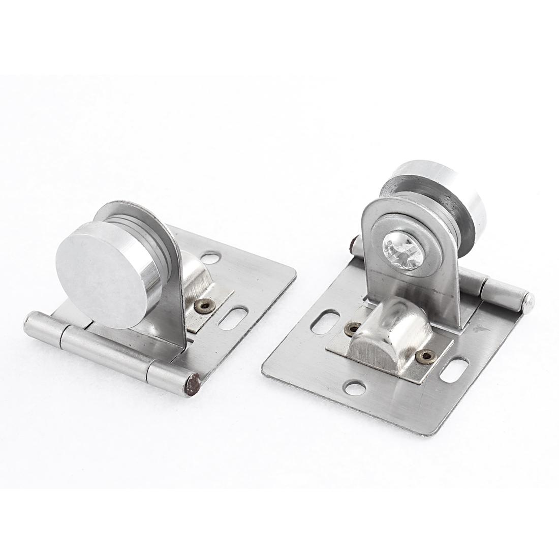 Stainless Steel Pulley Type Glass Door Furniture Display Case Hinge Pair