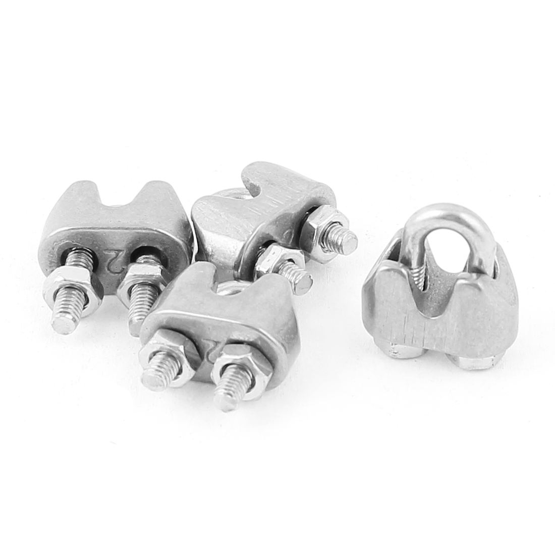 2mm Stainless Steel Wire Rope Cable Clamp Fastener 4pcs