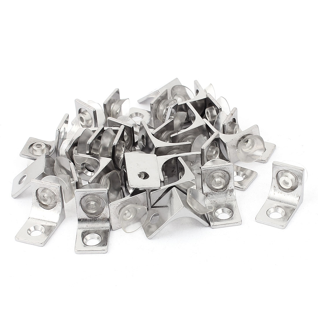 30 Pcs Glass Shelf Right Angle Suction Cup Fixing Fastener Clip Clamp Bracket