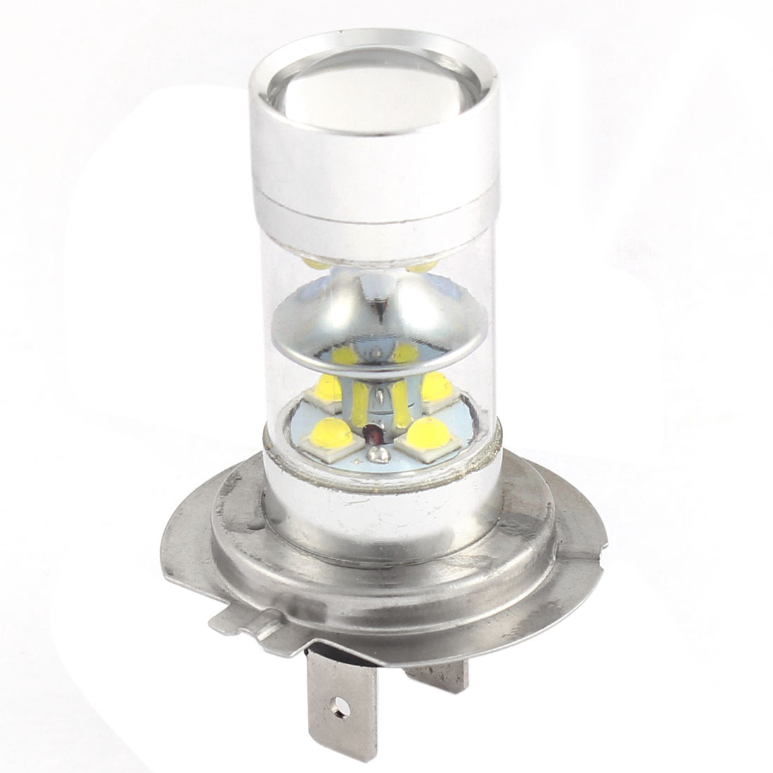 Car H7 White 12 LED Headhight Foglight Driving Lamp Projector Bulb DC 12V 60W