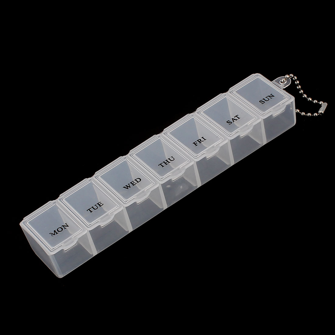 Weekly 7 Day Pill Box Tablet Holder Organizer Container Dispenser Case Clear White