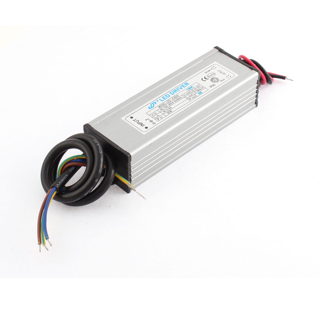 AC 150-265V 0.4A to DC 20-40V 1800mA 60W 10 Parallel 6 Series LED Lightstrip Light Strip Power Supply Driver