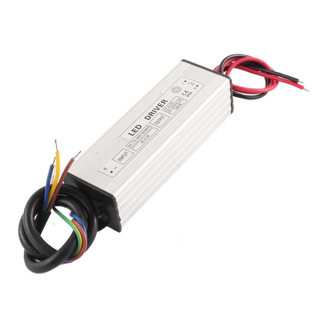 AC 110-265V 0.3A to DC 20-39V 1200mA IP66 10 Parallel 4 Series LED Lightstrip Light Strip Power Supply Driver