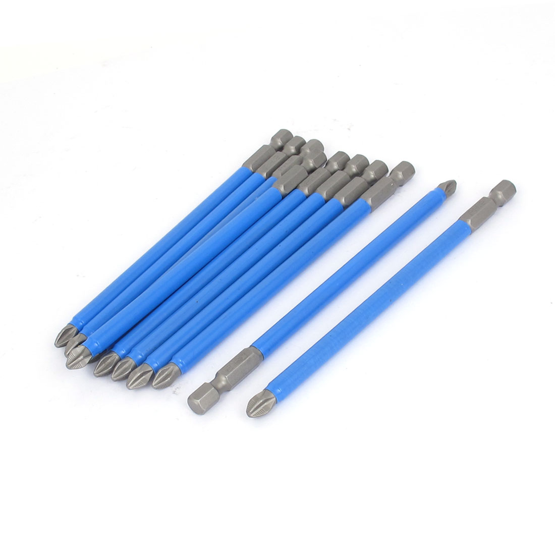 10pcs 6.5mm PH2 Phillips Driver Bits S2 Steel Magnetic Hex Shank Screwdriver Bit