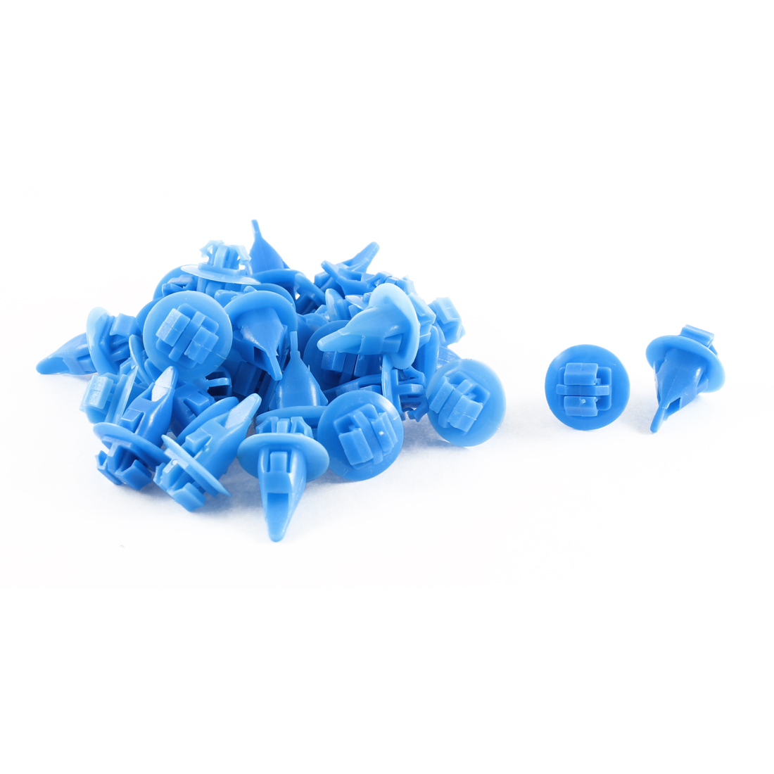 32 Pcs Blue Push-Type Moulding Fastener Retainer 11mm Hole for Toyota