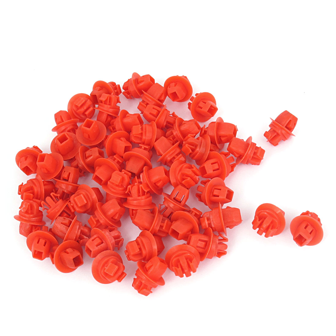 52 Pcs Red Push-Type Plastic Retainer Clips 10 x 16 x 9mm for Toyota