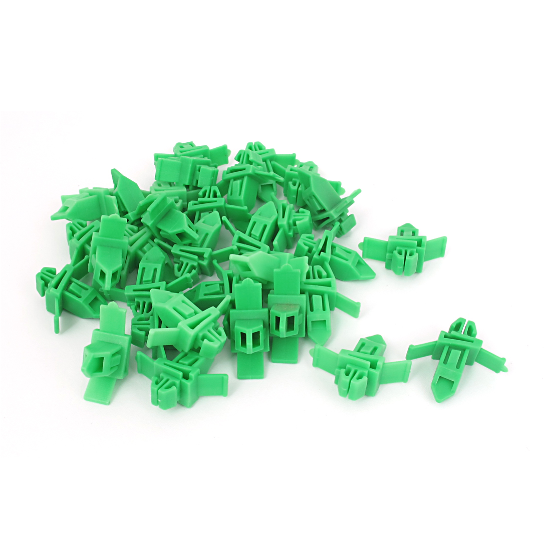 32 Pcs Green 9mmx7mm Hole Car Fender Trim Panel Mount Plastic Rivets for Toyota