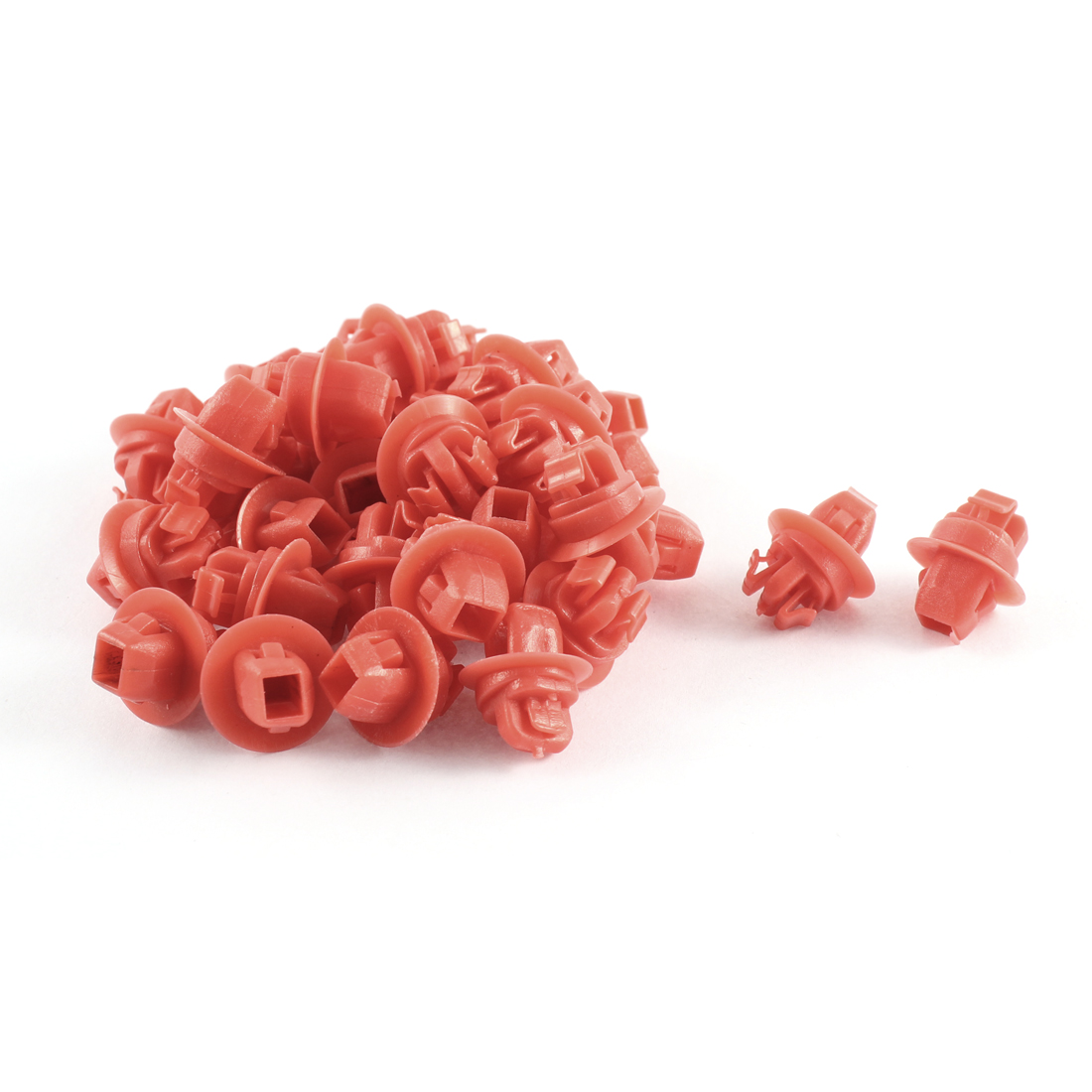 32 Pcs Red Push-Type Moulding Retainer Clips 10 x 16 x 9mm for Toyota