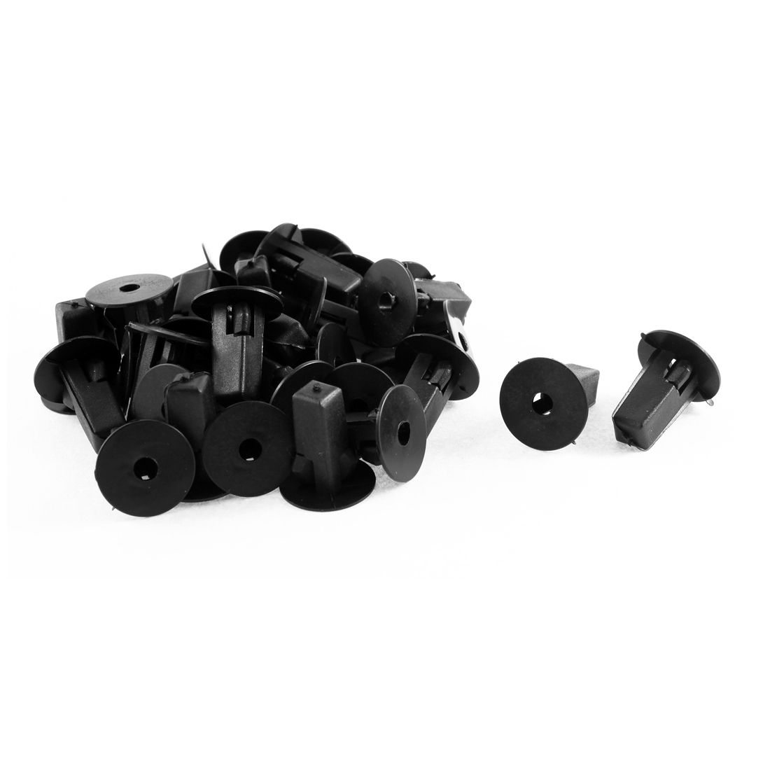 Black Plastic Rivet Trim Engine Panel Fastener Clips 32 Pcs for Toyota