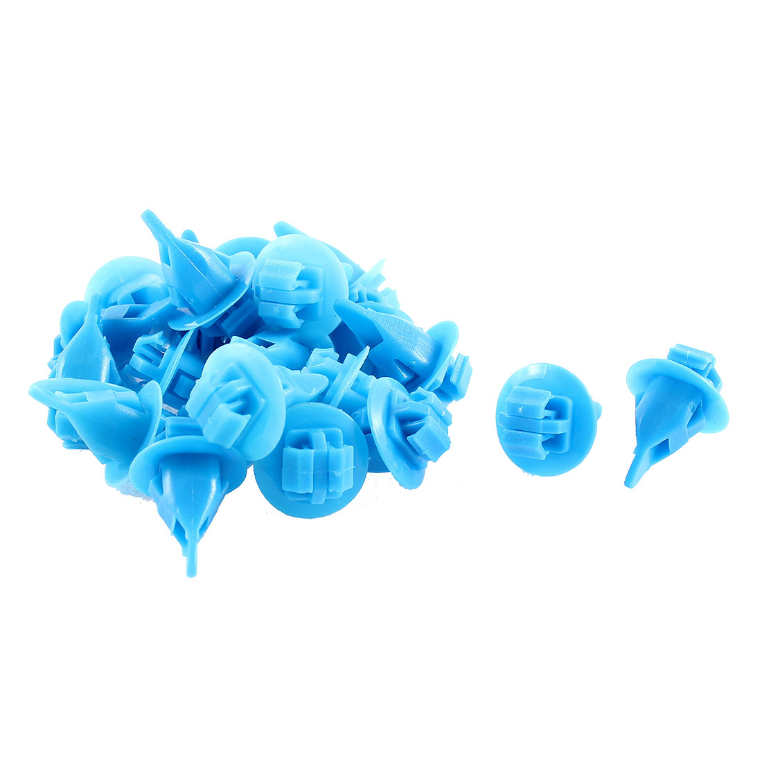 22Pcs Blue Push-Type Moulding Retainer Rivet 11mm Hole Dia for Toyota