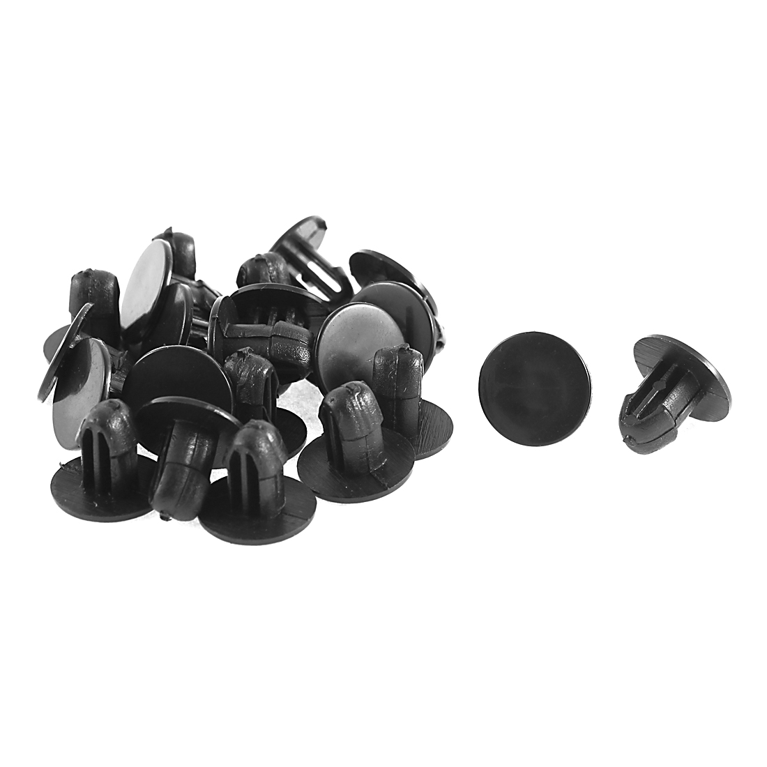 22 Pcs Machine Cover Plastic Clips 6mm Hole Dia for Honda