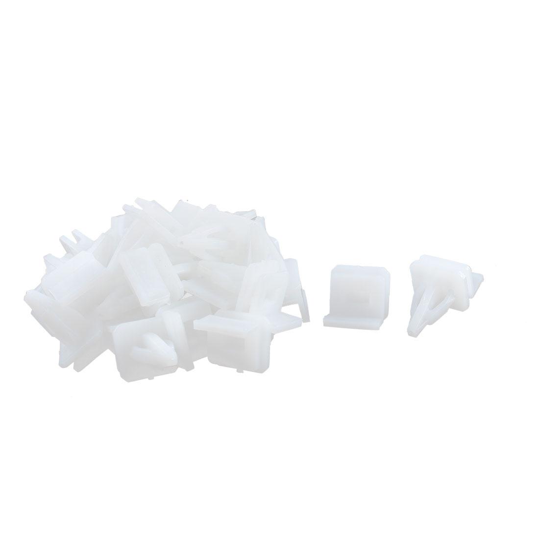 22Pcs White Door Card Interior Weatherstrip Moulding Retainer Clip for Honda
