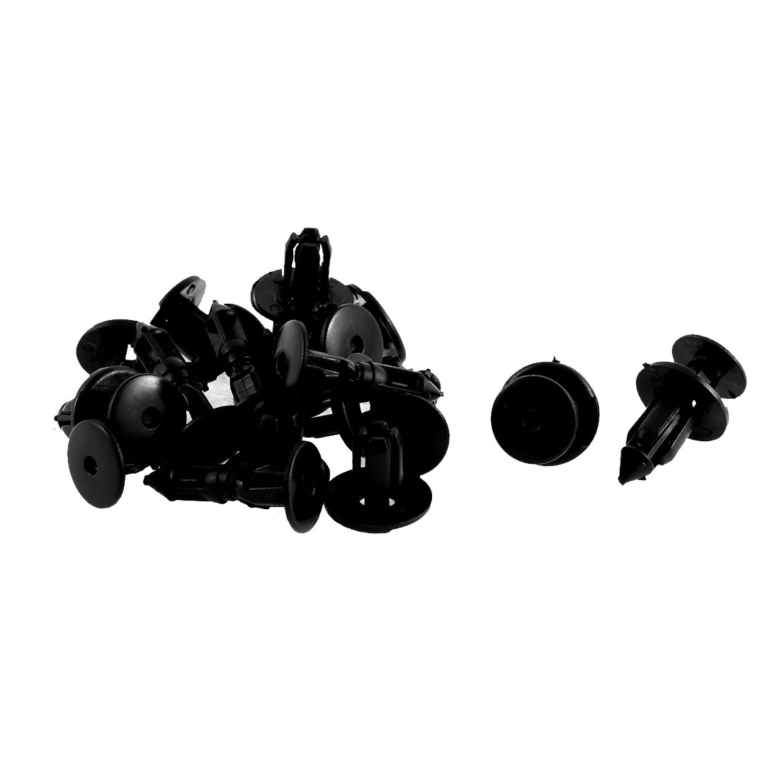 12Pcs Black Plastic Push-Type Car Trim Rivet for Toyota