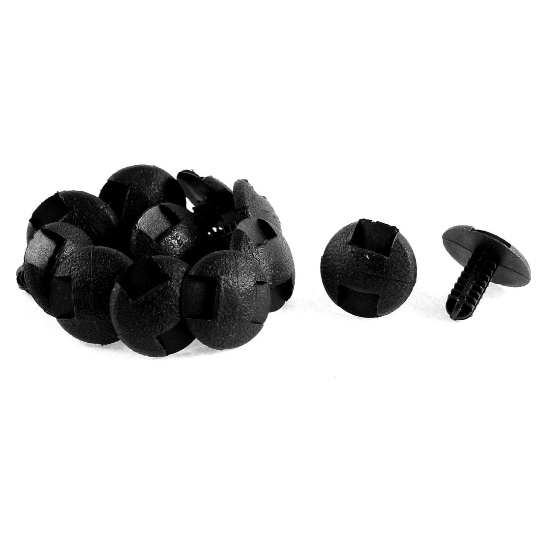 12Pcs Black Plastic Fir Tree Trim Panel Boot Clips Rivet for Toyota