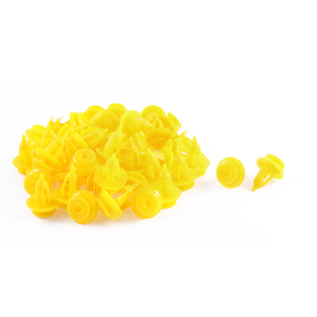 52 Pcs Lemon Yellow Door Card Plastic Rivet Fastener 9 x 18 x 17mm for Pickup