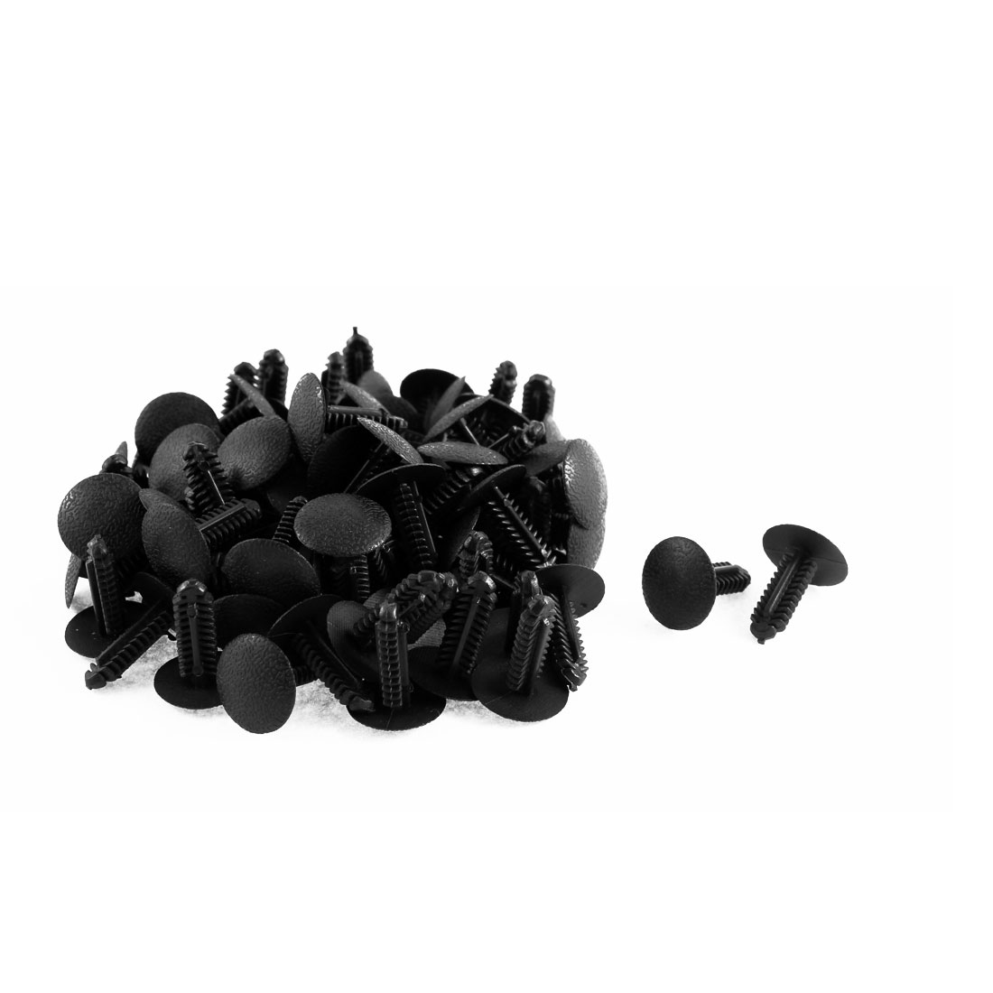 82 Pcs Black Plastic Splash Guard Push-Type Rivets for Ford