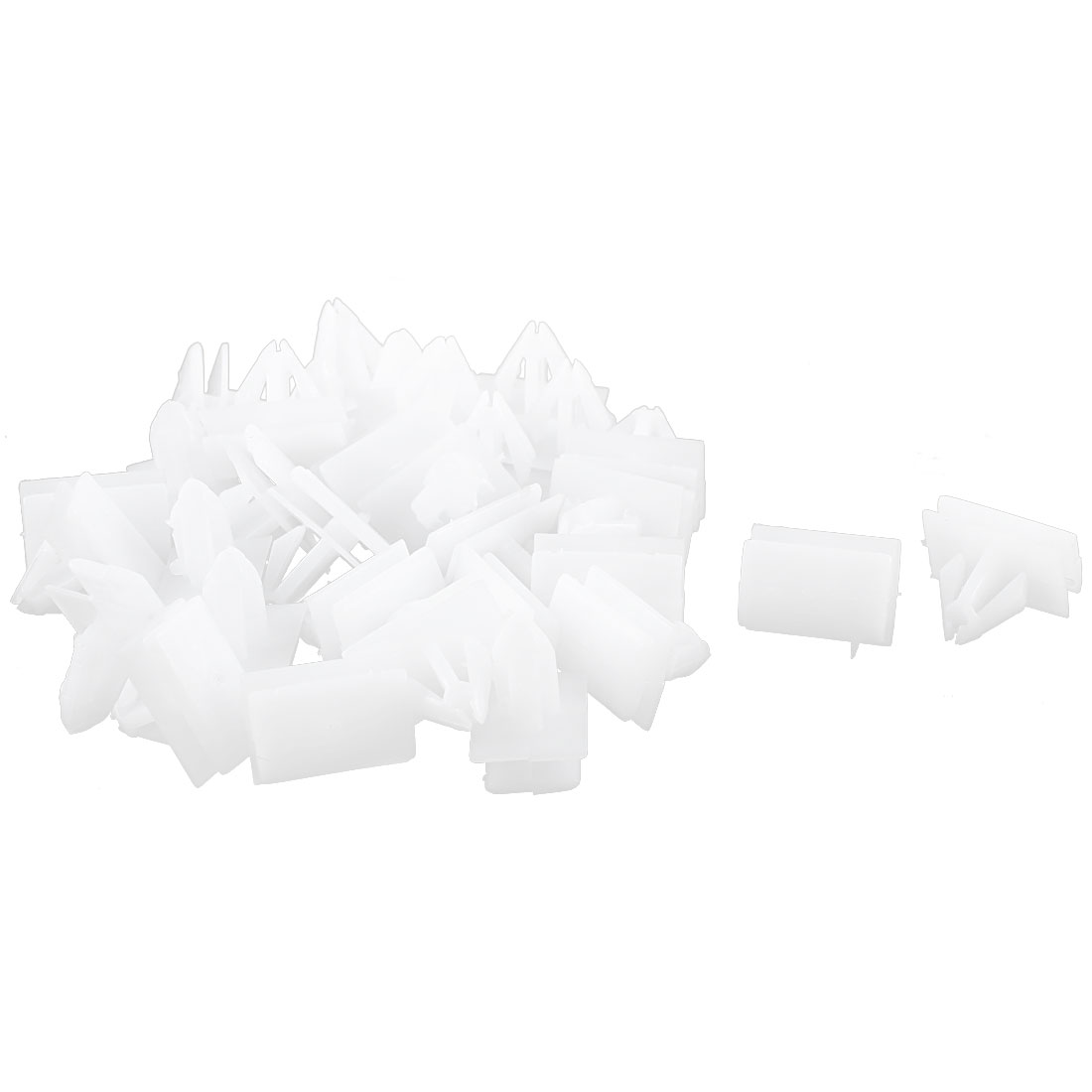 32Pcs White Under Beam Retainer Auto Trim Clips for Buick Excelle