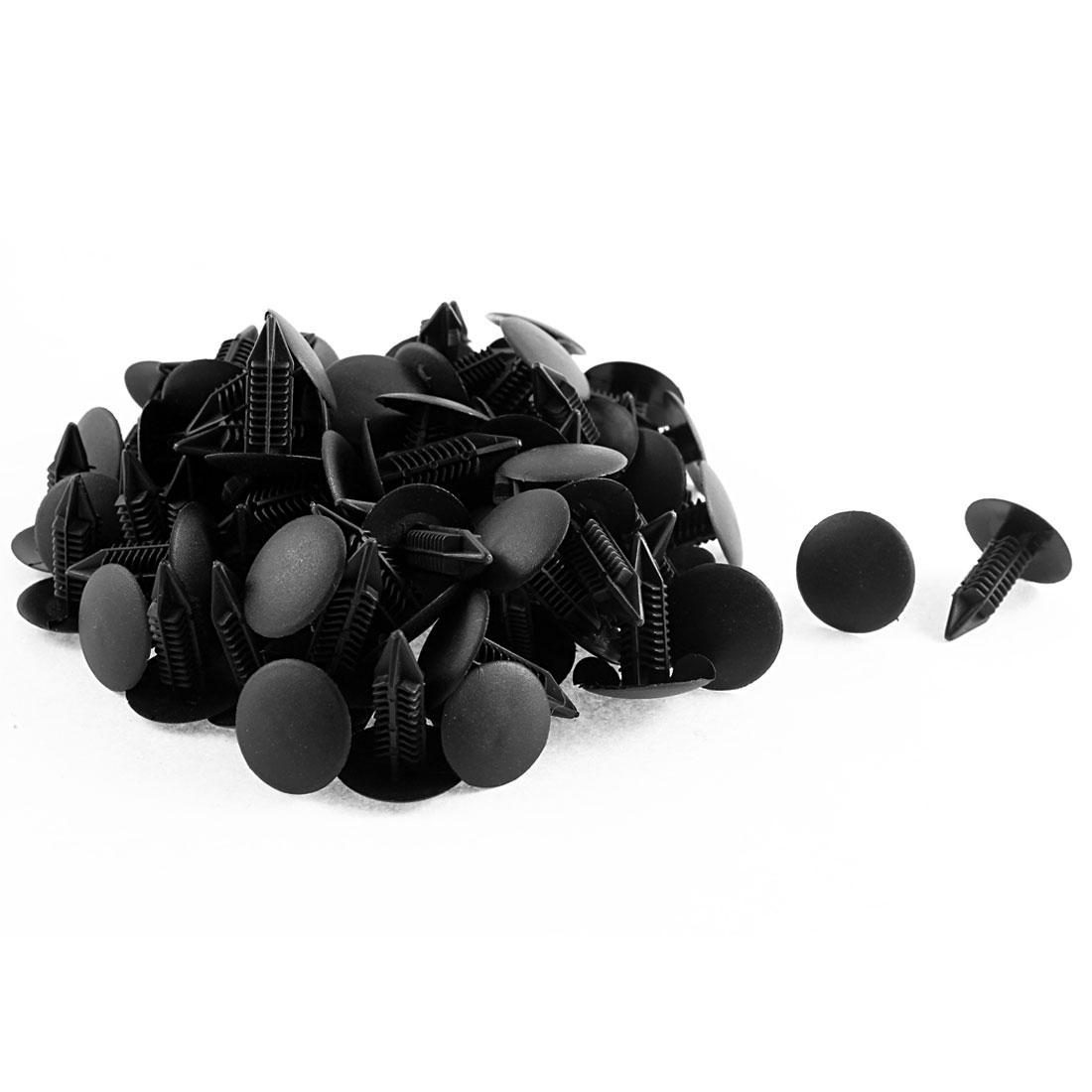 82Pcs Black Plastic Retainer Rivet Clip 7 x 16 x 21mm for Toyota