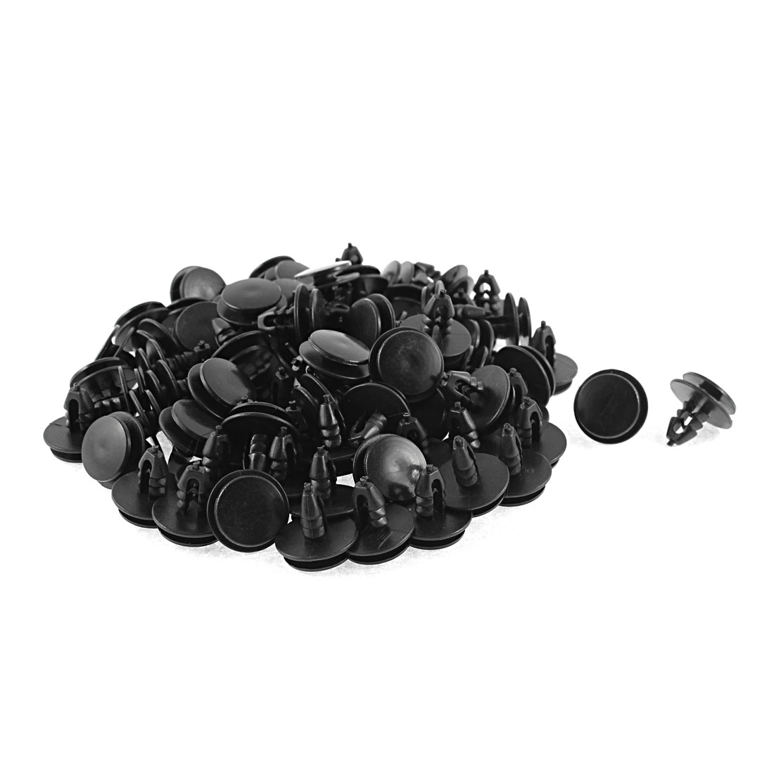 82 Pcs Black Plastic Door Card Auto Trim Clips 8mm Hole for Ford