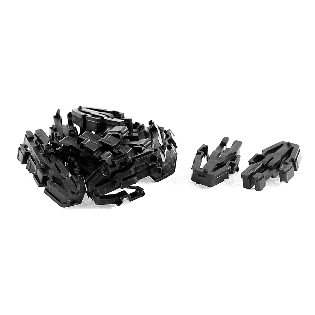 12 Pcs Black Plastic Auto Trim Net Retainer Clips 23mm Length for Toyota