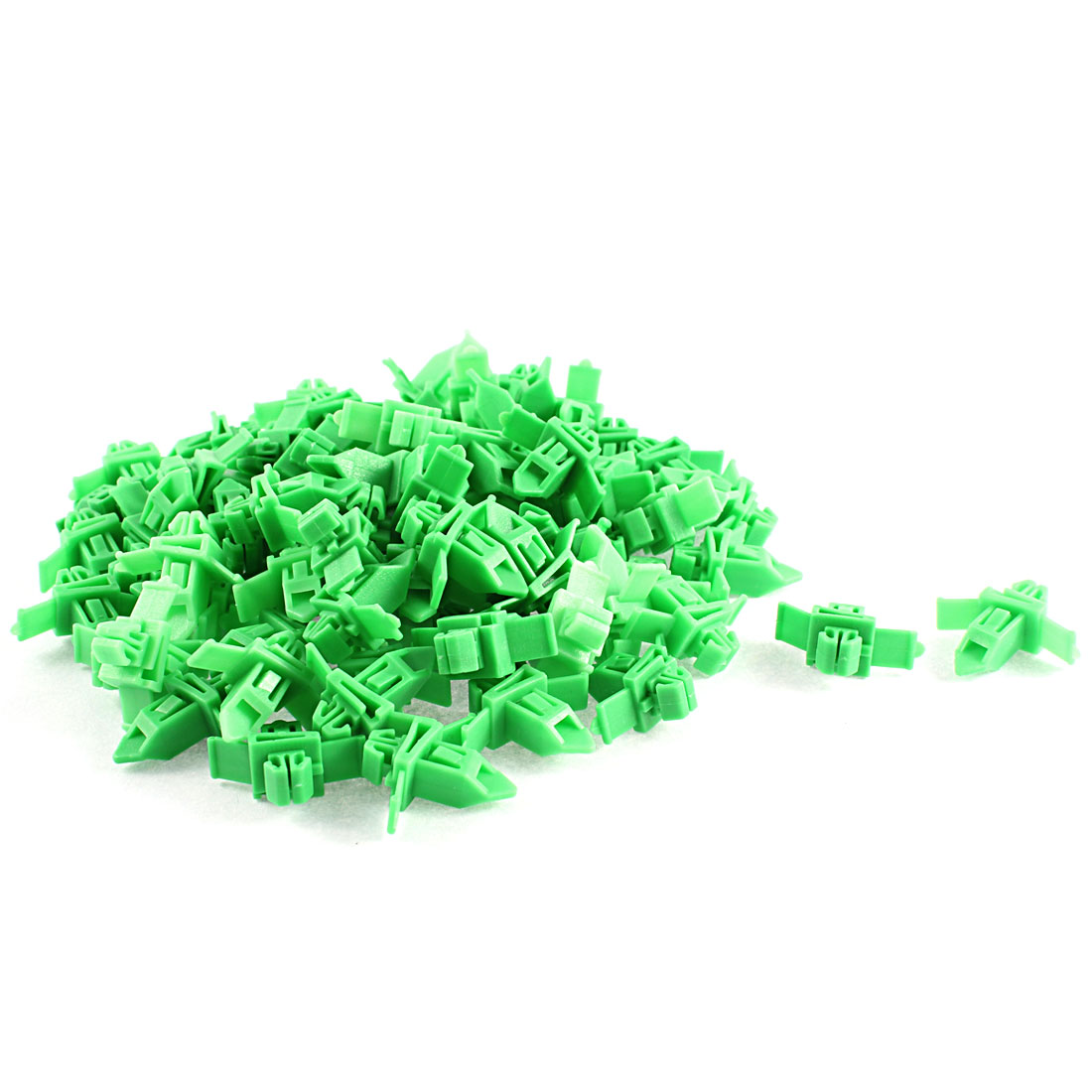 82Pcs Green Door Card Trim Moulding Fastener Clips for Toyota