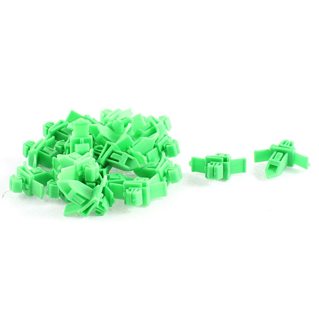 22Pcs Green Door Card Trim Moulding Plastic Retainer Clips 9 x 7mm Hole for Toyota