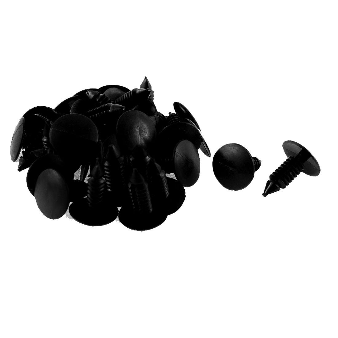 32Pcs Black Plastic Splash Guard Fastener Clips for Jeep 213