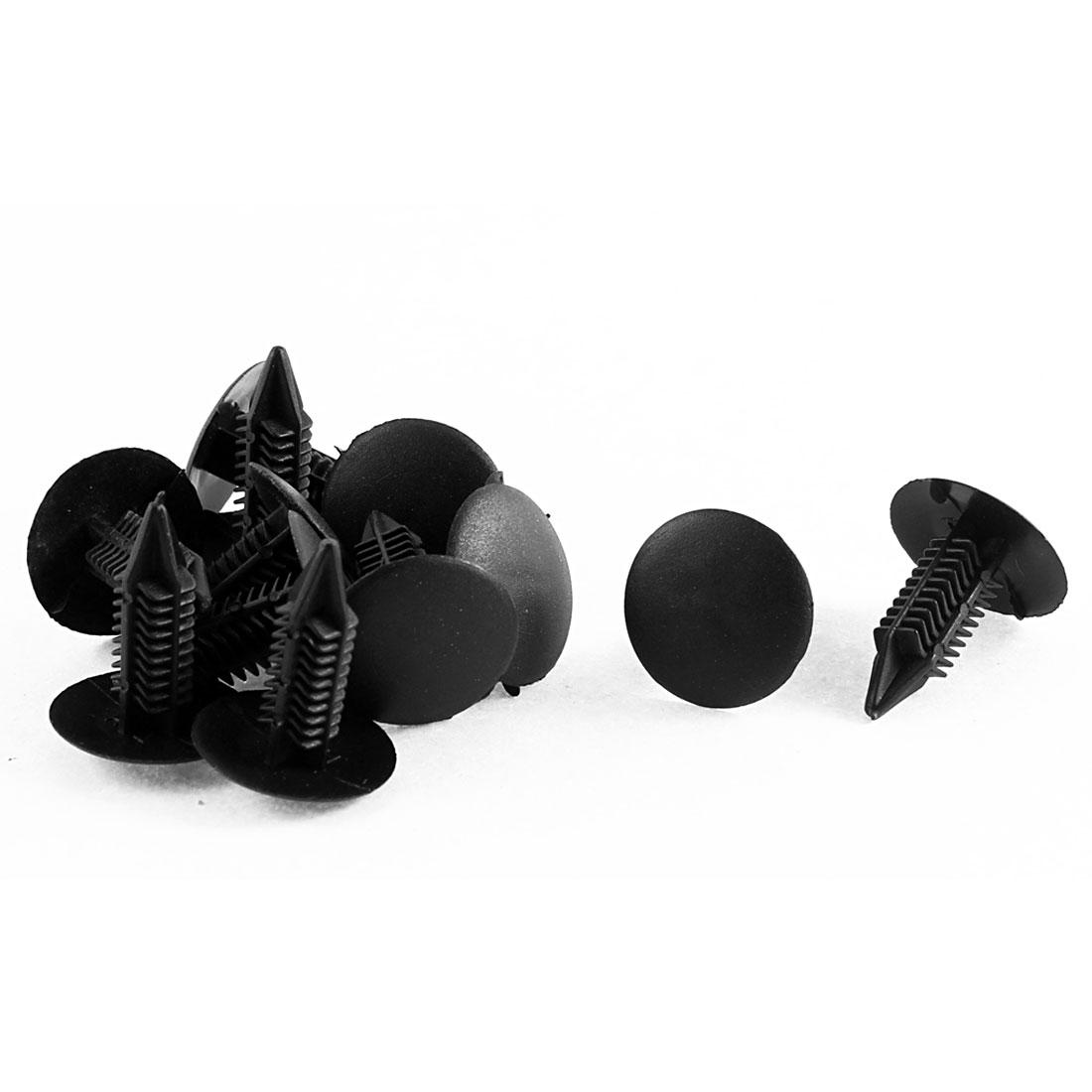 12Pcs Black Plastic Retainer Rivet Clip 7mm x 16mm x 21mm for Toyota