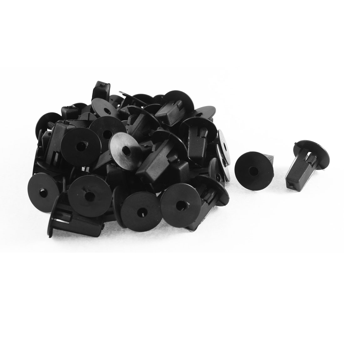 52 Pcs Black Plastic Splash Guard Defender Fastener Clips for Toyota