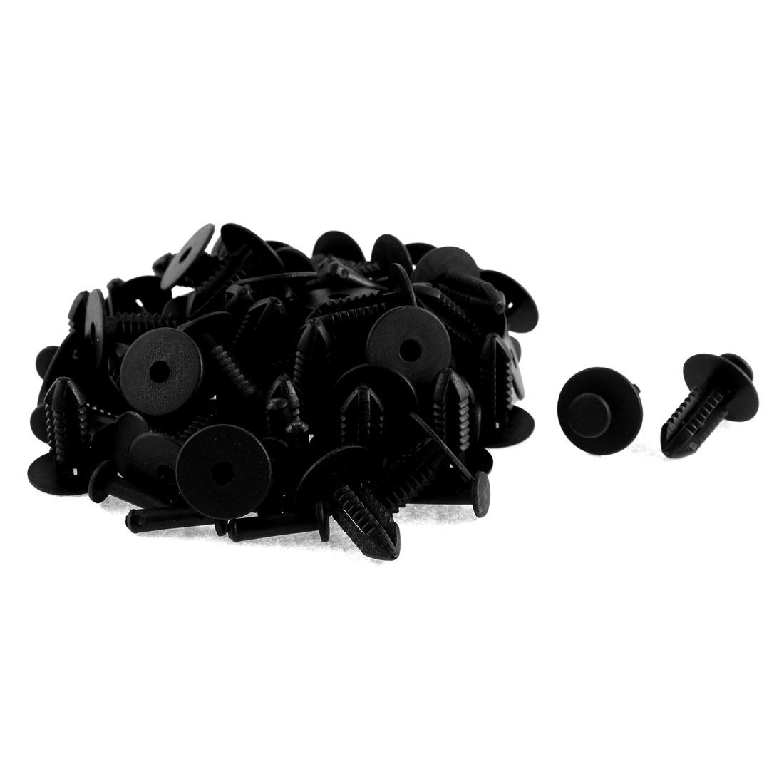 52 Pcs Black Plastic Fir Tree Auto Trim Clips for Mercedes Benz