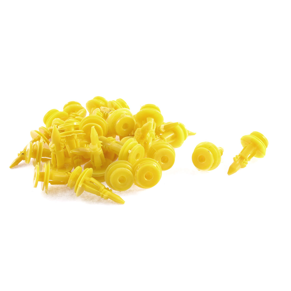 32 Pcs Lemon Yellow Door Card Trim Plastic Retainer Clips 8 x 17 x 26mm for Ford