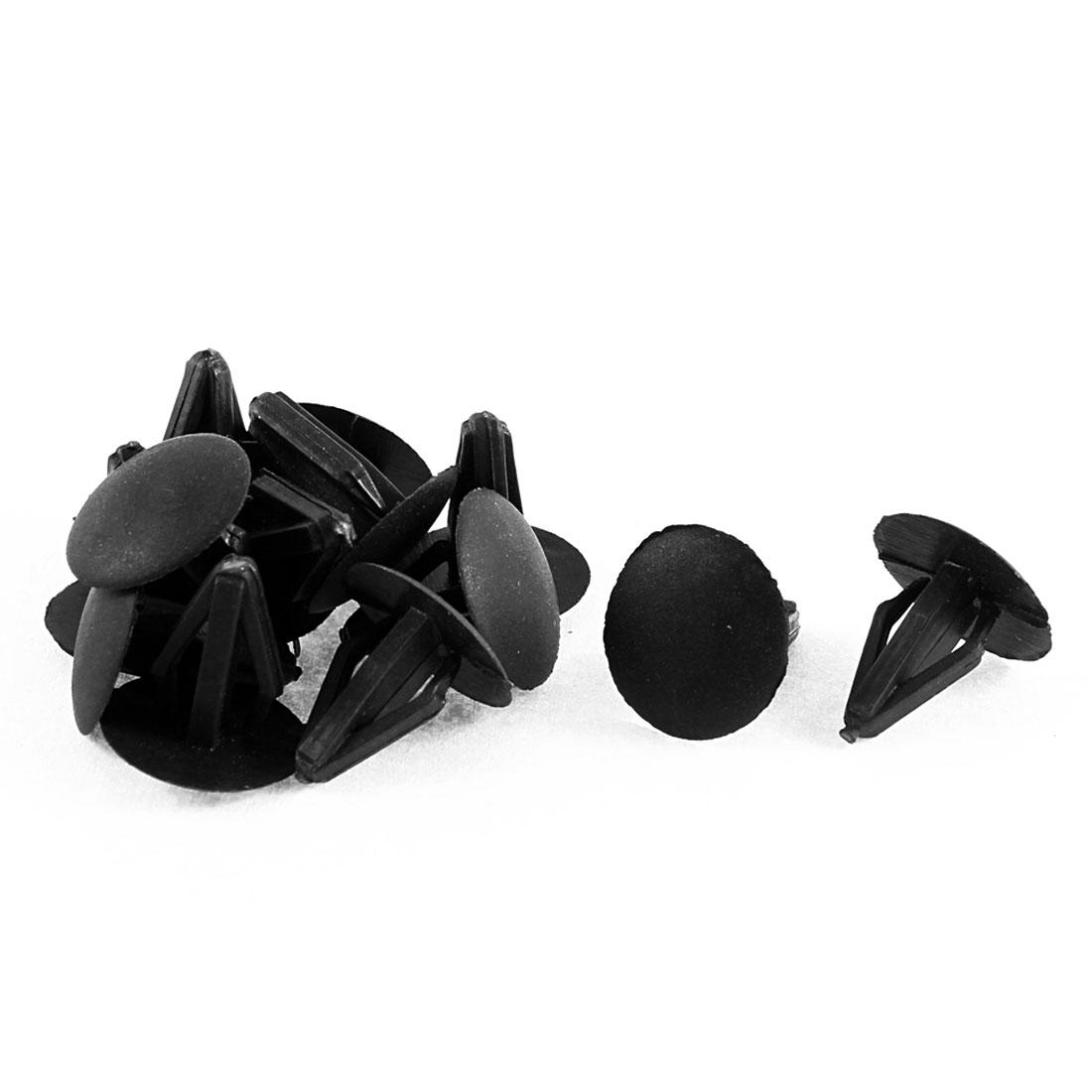 12Pcs Black Plastic Carpet Fastener Floor Mat Clips 9mm Hole for Honda