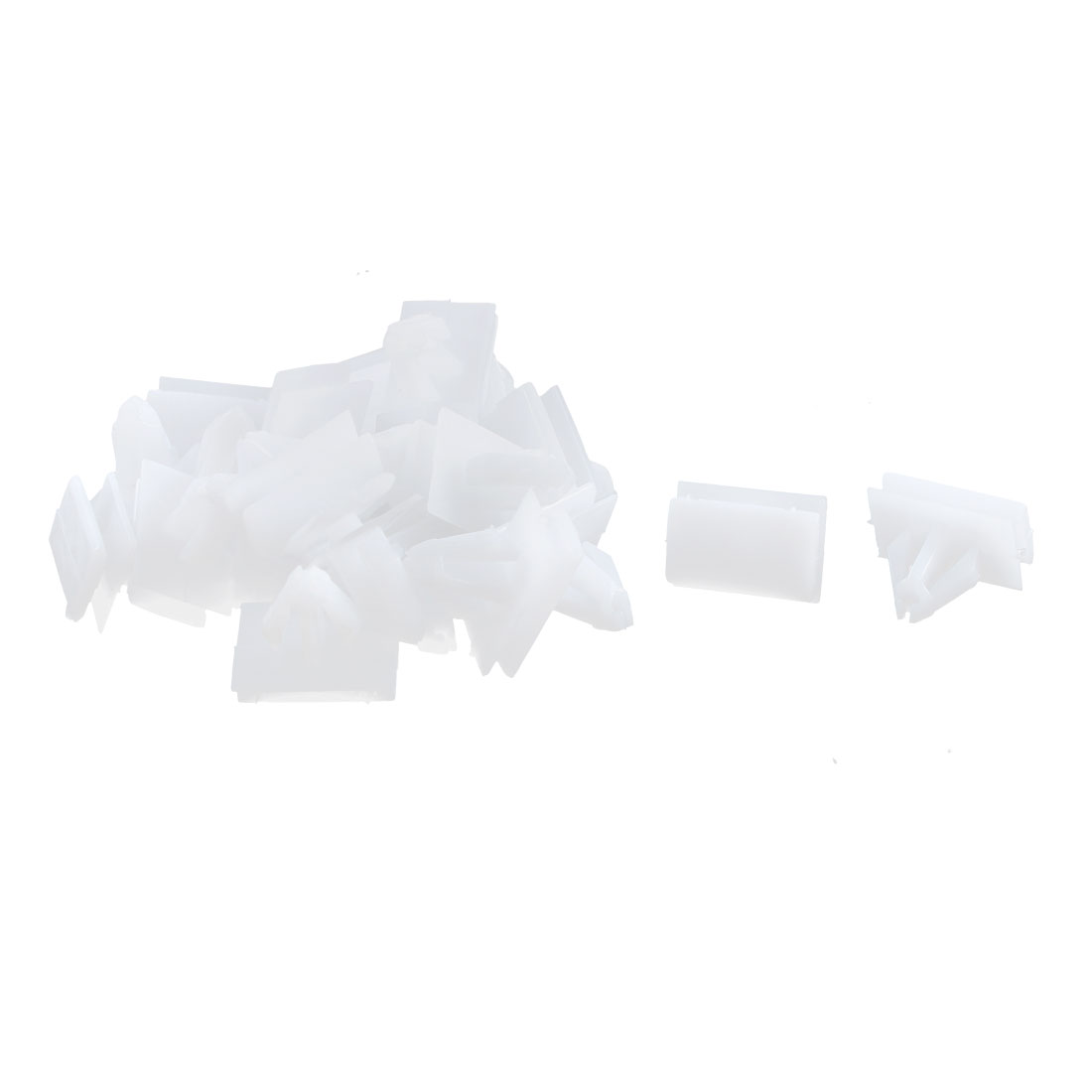 22Pcs White Under Beam Retainer Panel Moulding Plastic Clip for Buick Excelle