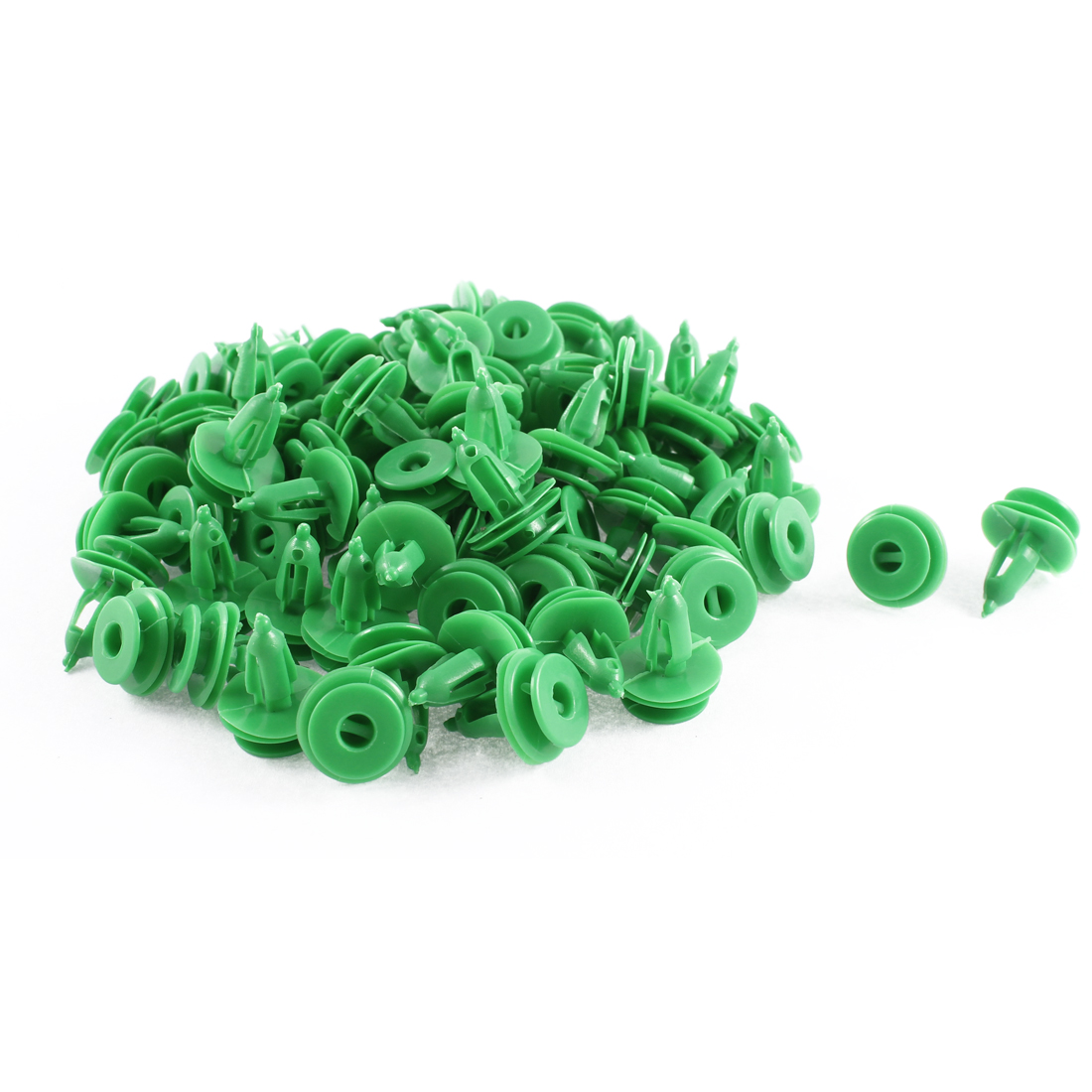 82Pcs Universal Green Splash Guard Moulding Retainers 7 x 17 x 16mm