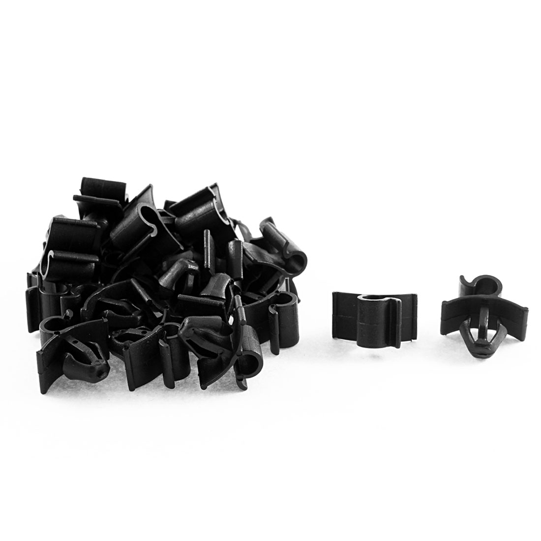 22 Pcs Black Plastic Bonnet Prop Support Rod Rivet Clips for Peugeot