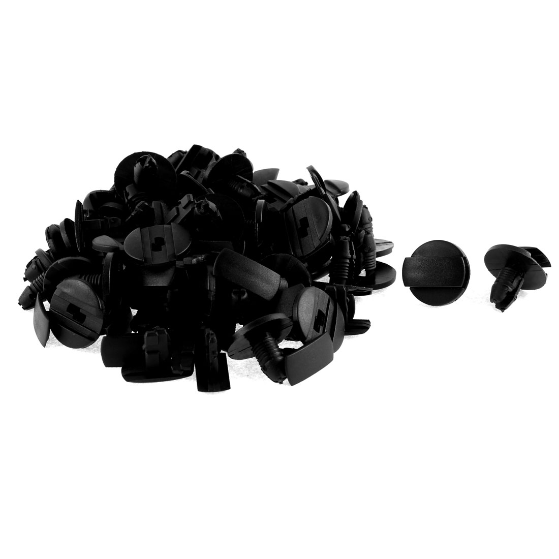 52 Pcs Black Plastic Auto Trim Bumper Rivet Clips Nail for Peugeot
