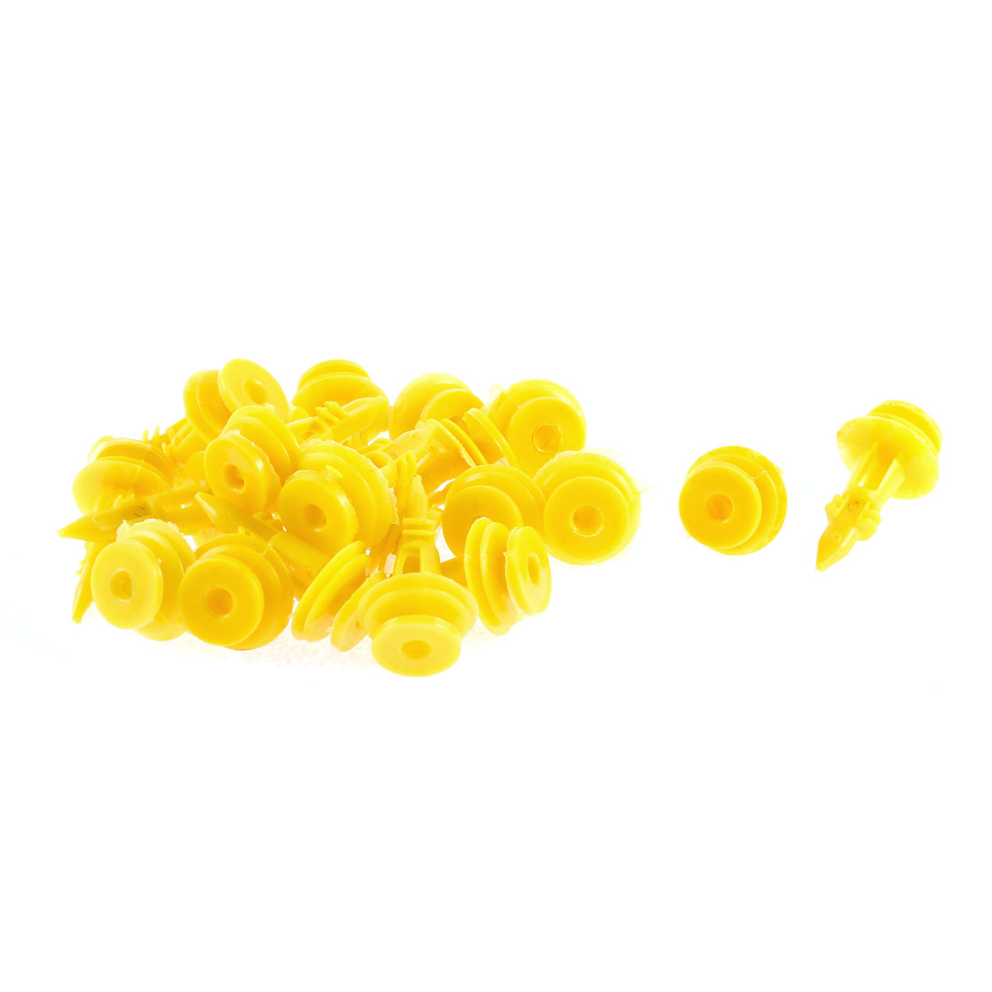 22Pcs Yellow Plastic Retainer Clips 32mm Length for Ford