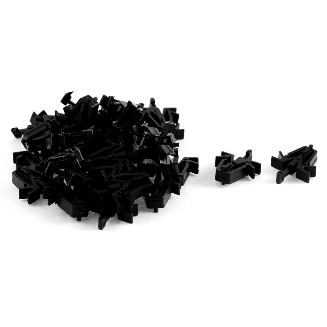 32 Pcs Black Plastic Door Card Trim Net Clips for Toyota