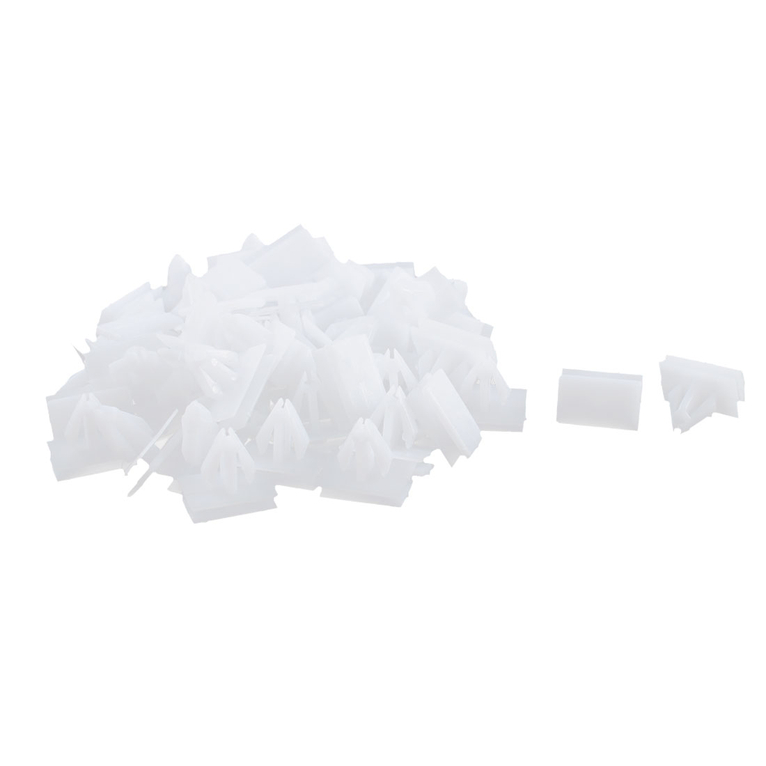 52Pcs White Under Beam Retainer Panel Moulding Auto Trim Clips for Buick Excelle