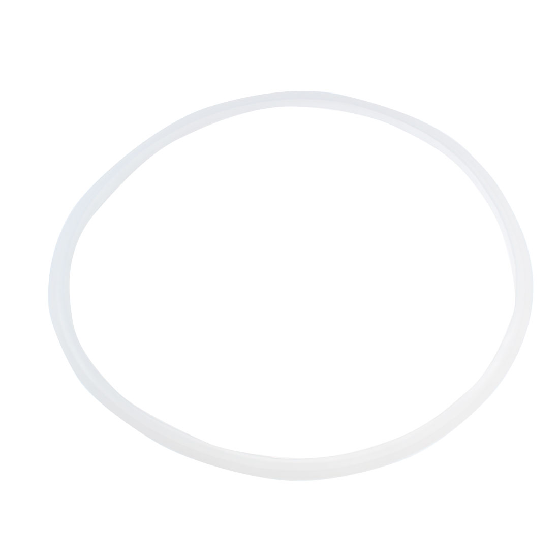 2 Pcs 26cm Replacement Rubber Sealing Gasket Ring Clear White for Pressure Cooker