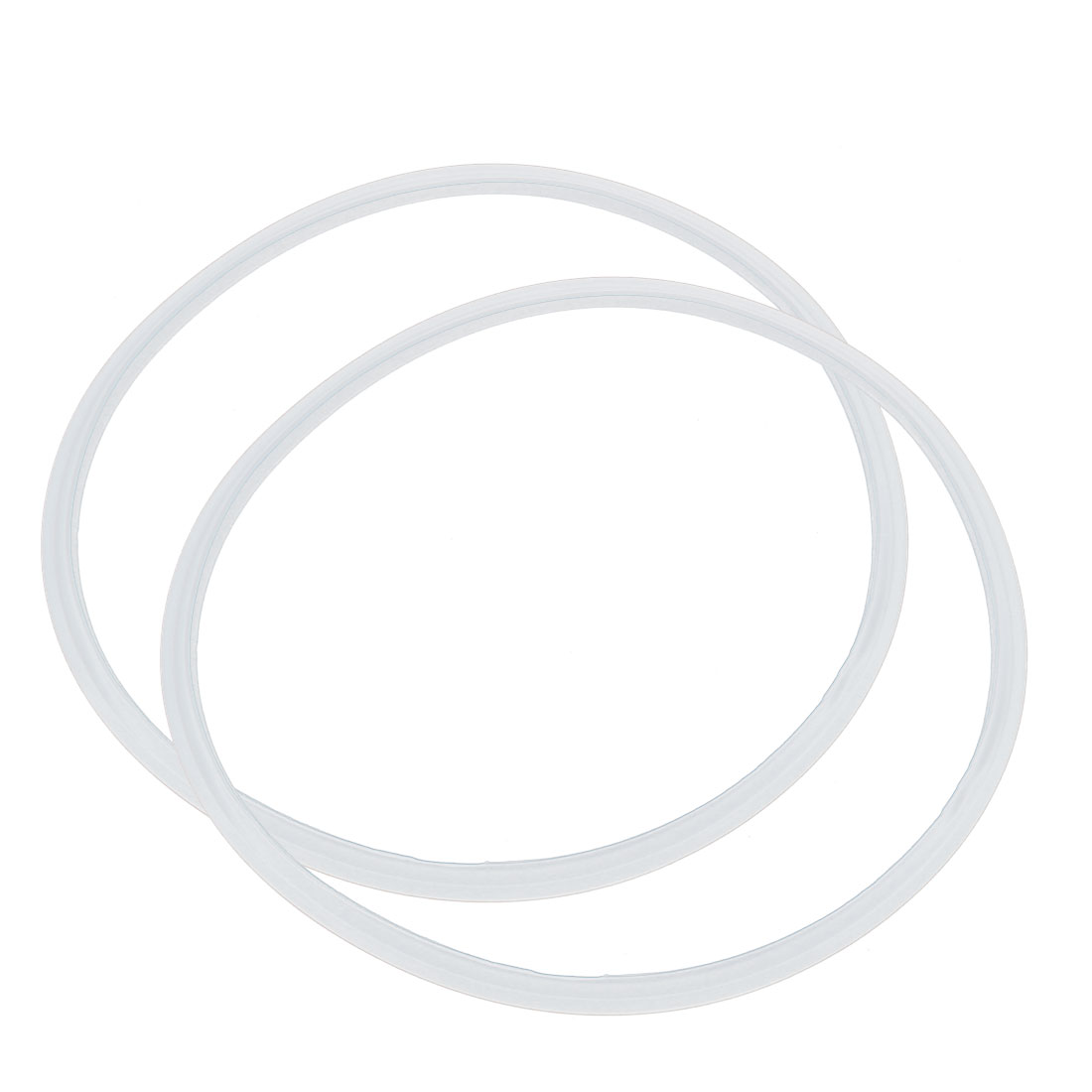 2 Pcs Silicone Pressure Cooker Gasket Sealing Ring 30cm Inner Dia White