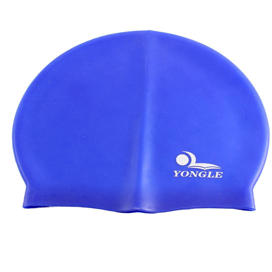 Sports Swimming Soft Silicone Underwater Flexible Surfing Head Swim Cap Hat Blue