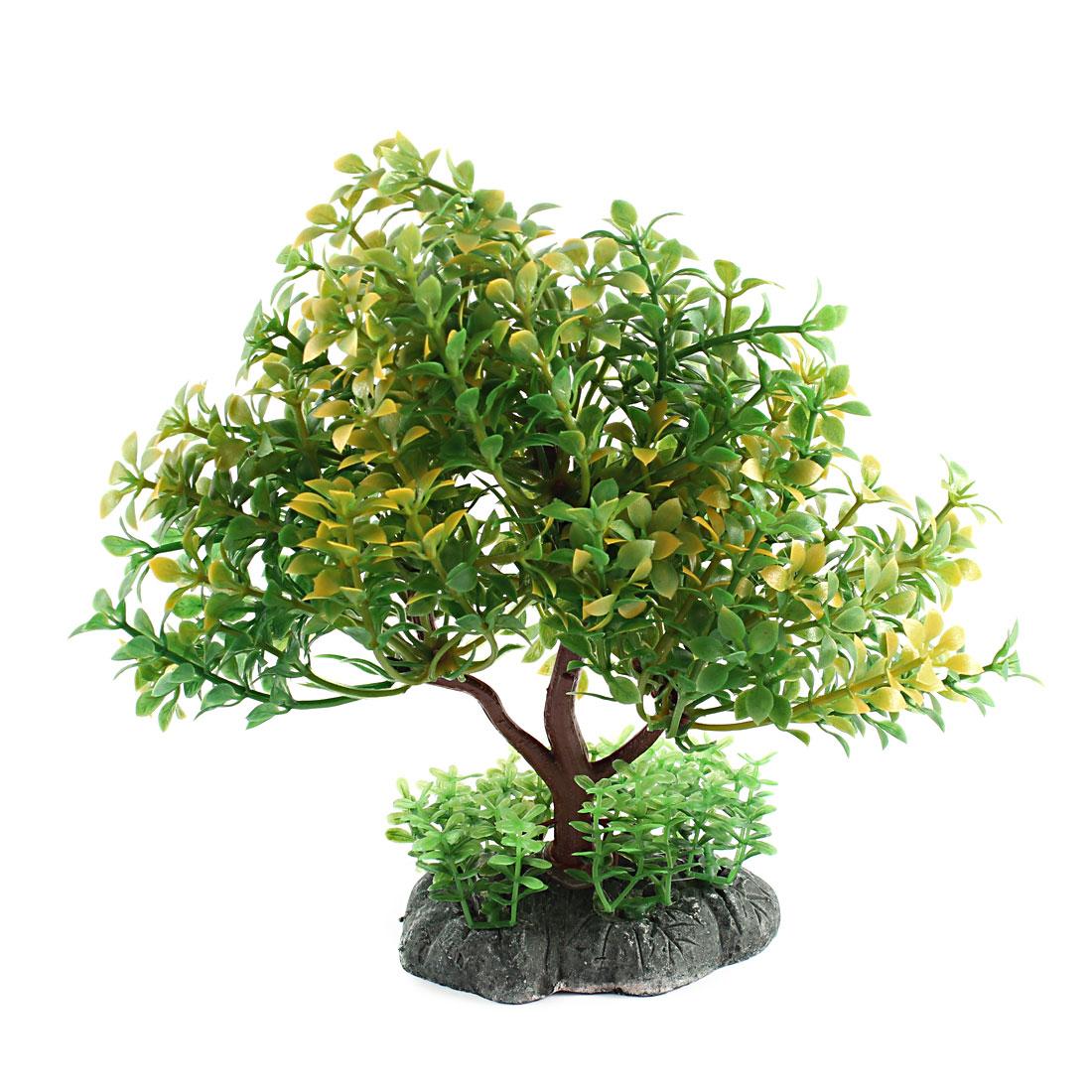 "Simulated Plastic Aquarium Tank Grass Plant Ornament 7.1"" Height Green"