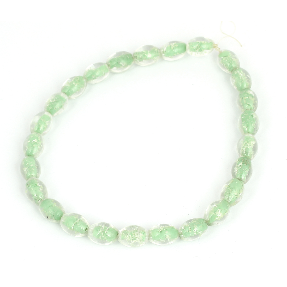 Lady DIY Luminous Imitation Pearl Handcraft Beads Necklace Green