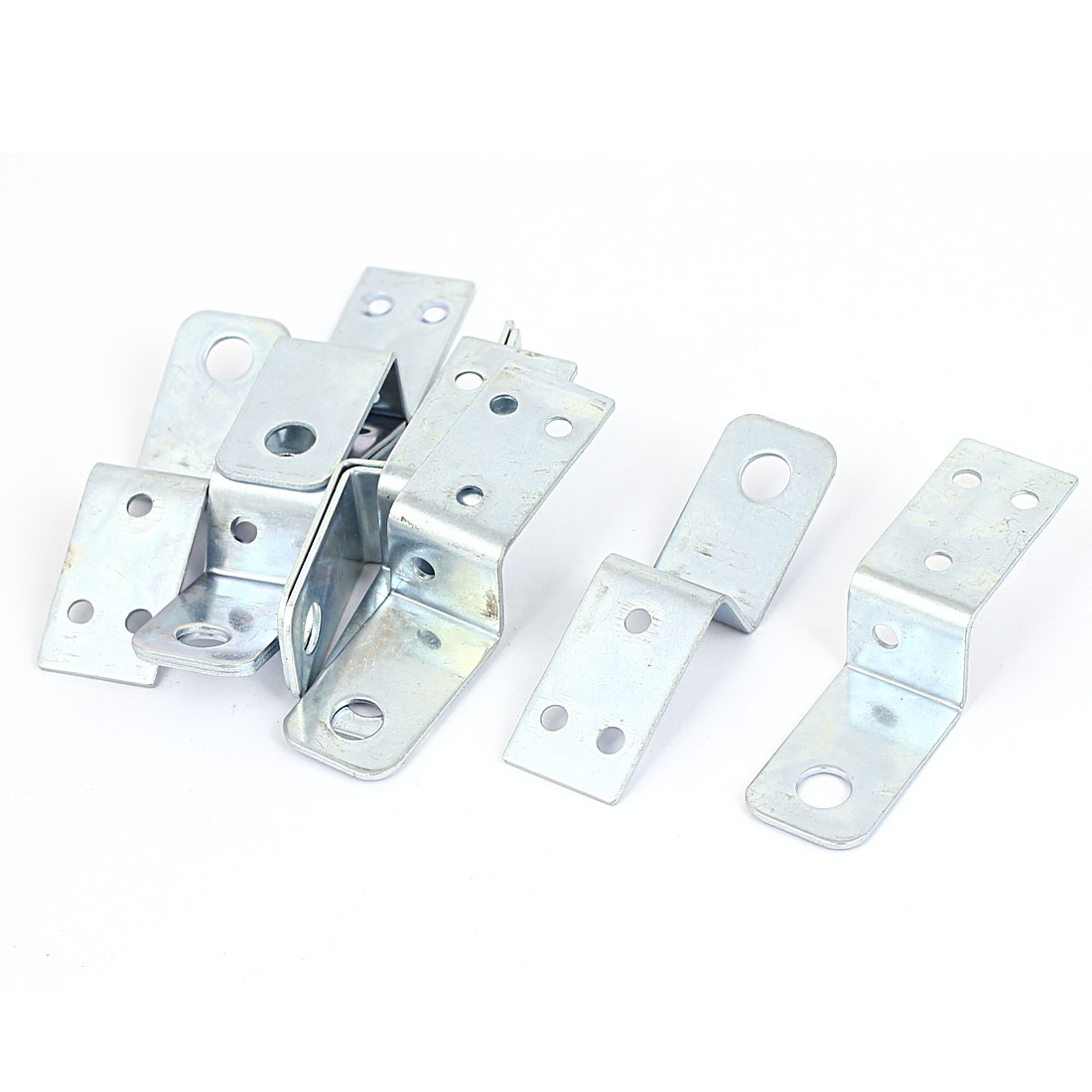 Furniture Shelf 70mmx20mm Z Shaped Corner Brace Plate Right Angle Bracket 10pcs