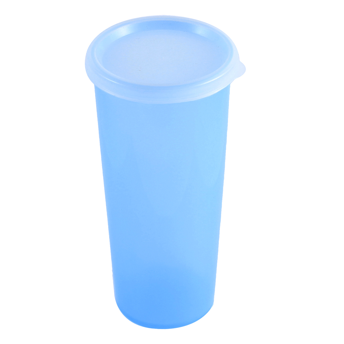 Home Office Fruit Juice Water Bottle Plastic Drink Cup Mug 470ml Clear Blue