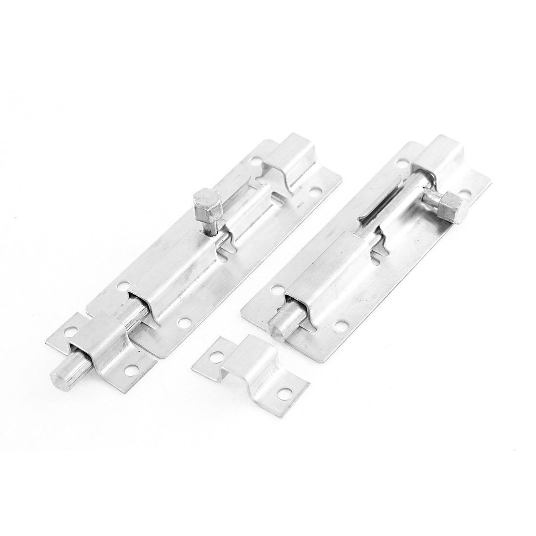 "Gate Lock Safety Stainless Steel Door Latch Barrel Bolt Hasp Stapler 4"" Length 2pcs"