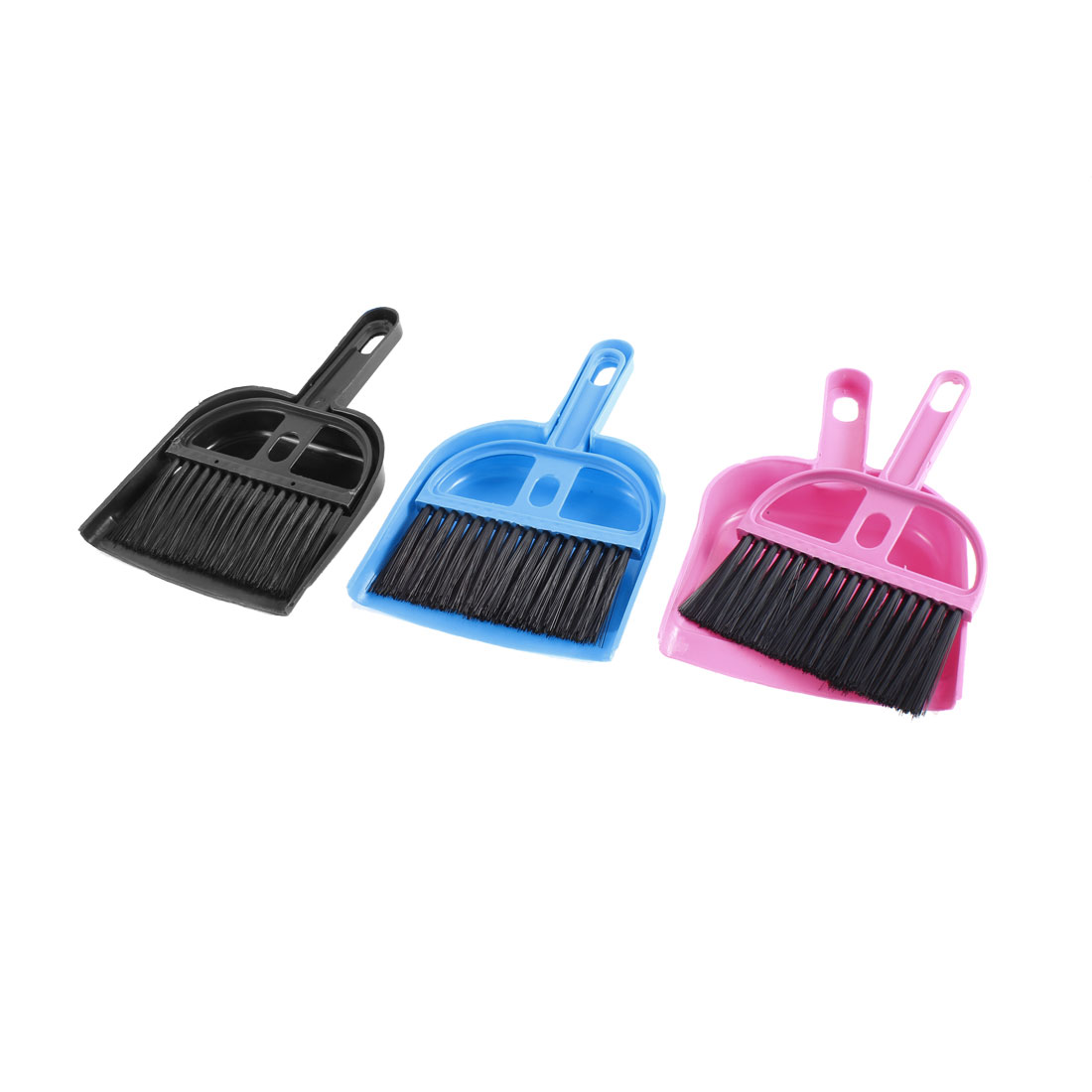 Car Dashboard Computer Keyboard Cleaning Brush Dustpan Assorted Color 3pcs