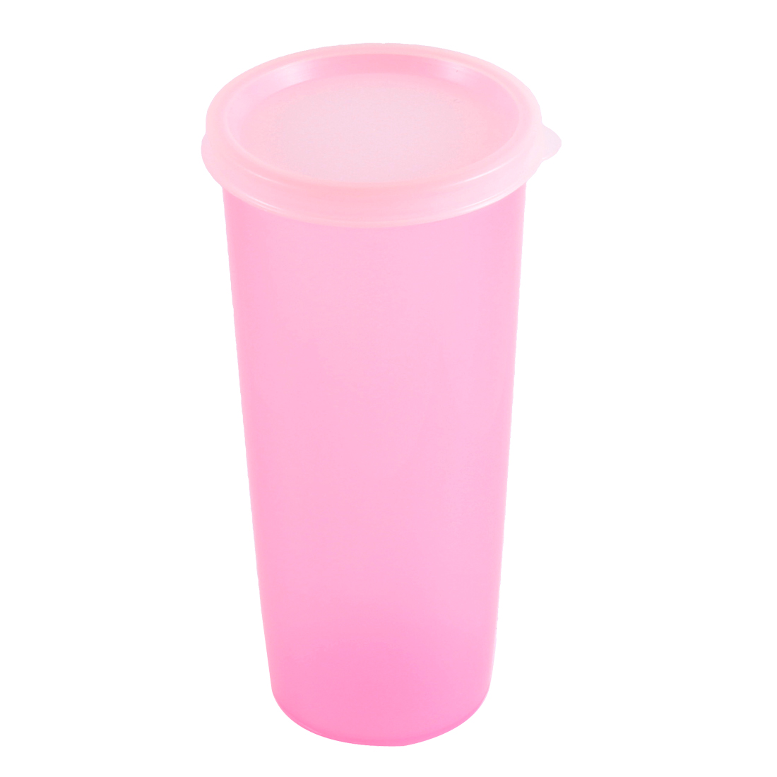 Home Office Fruit Juice Water Bottle Plastic Drink Cup Mug 470ml Clear Fuchsia