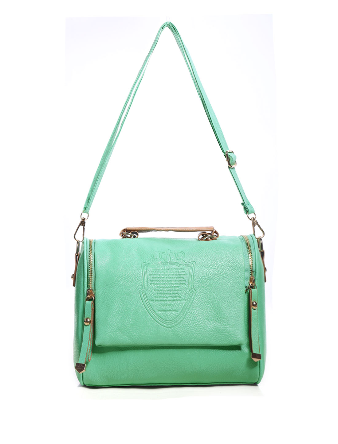 Vintage Style Faux Leather Women Handbag Tote Messenger Shoulder Bag Green